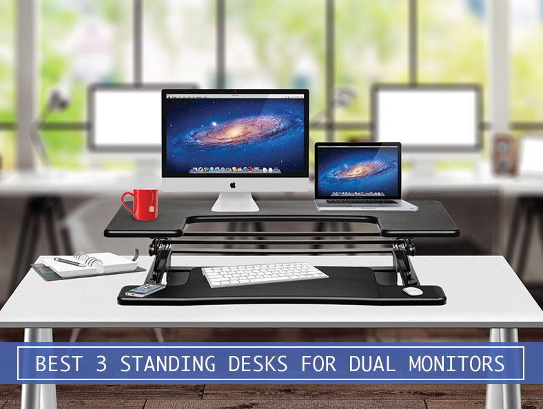 Best Adjustable Standing Desk Converters For Dual Monitors