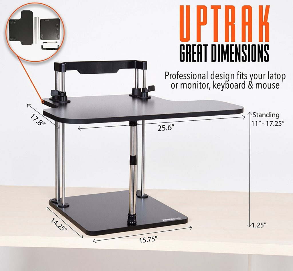 dimensions of the stand steady uptrak