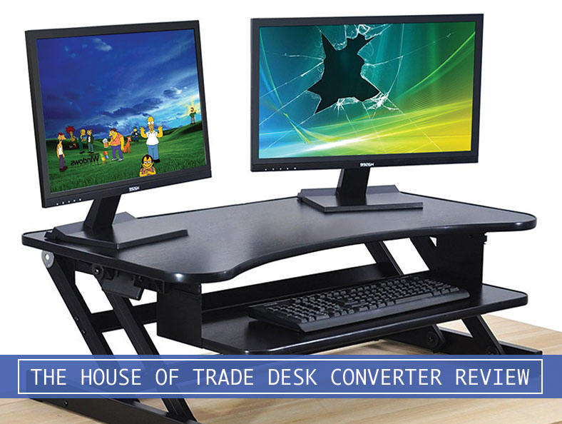 The House Of Trade Adjustable Sit To Stand Converter Full