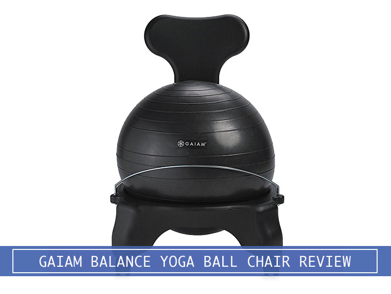 Black Gaiam Balance Yoga Ball Chair