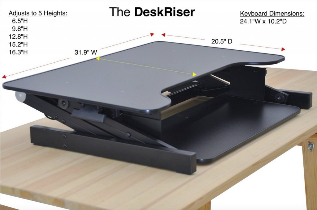 dimensions of the house of trade desk riser standing desk converter