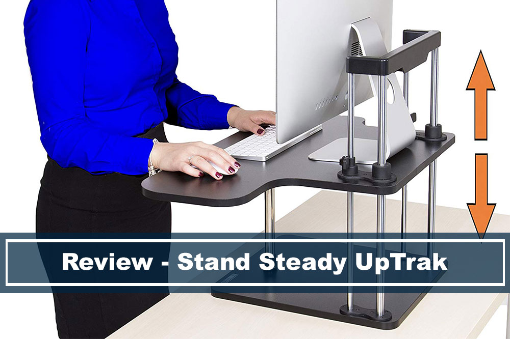 review of stand steady uptrak standing desk converter
