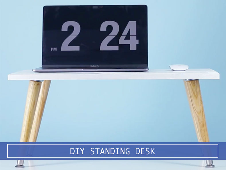 DIY Stand Up Desk Converter Less Than $30! - Desk Advisor
