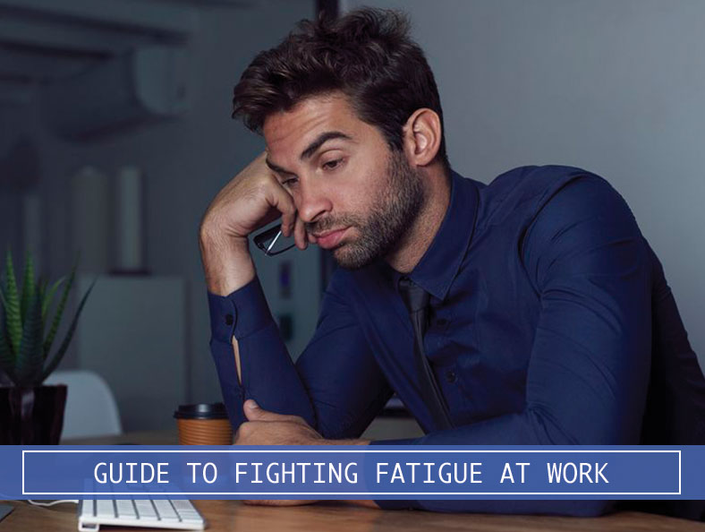 man fatigue at work
