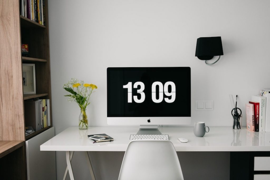 clean and minimal desk