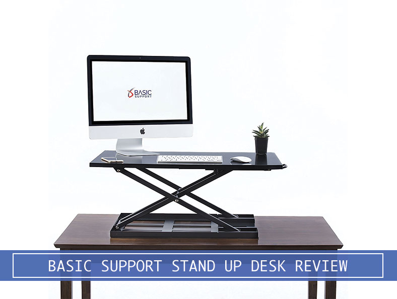 Basic Support Stand Up Table Top No Keyboard Tray Converter Review