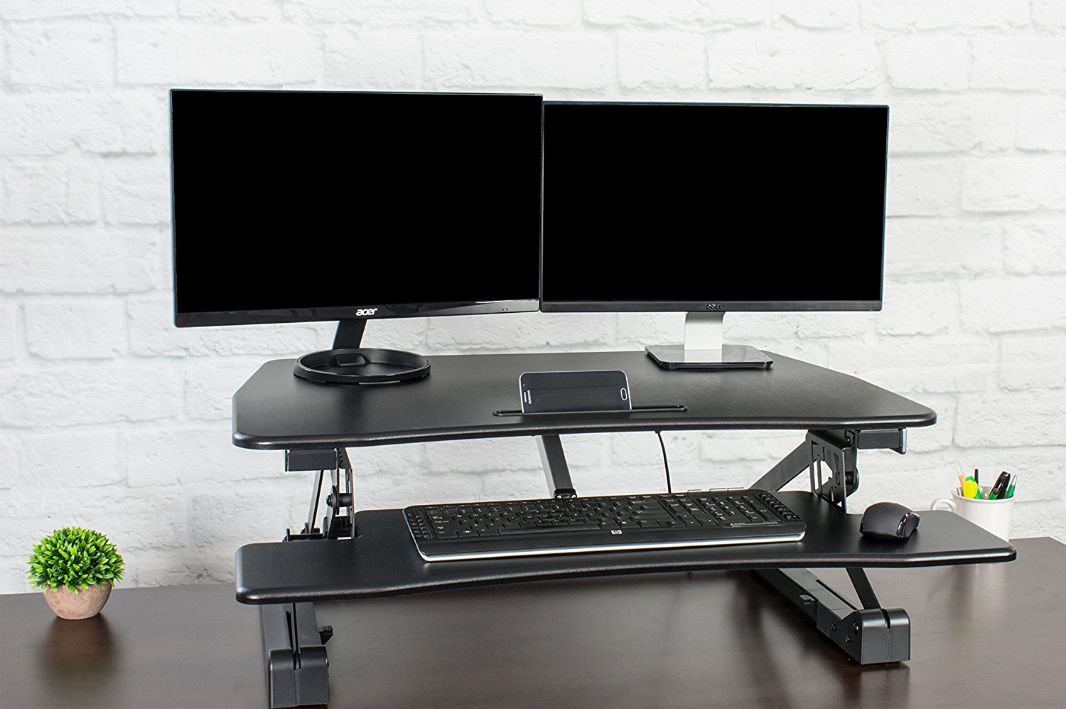 Vivo Electrical Height Adjustable Sit To Stand Desk