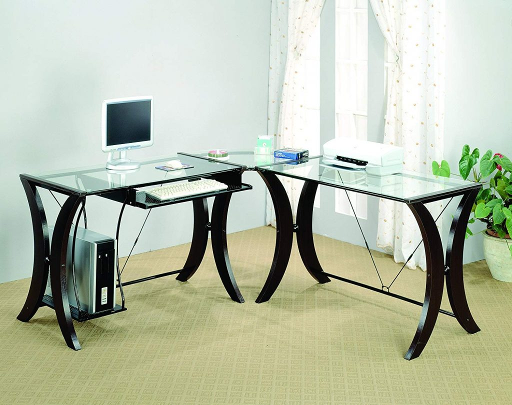 coaster home furnishings office l shaped desk