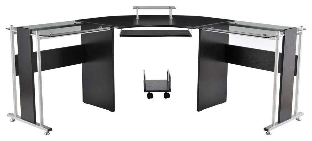 homcom l shape desk