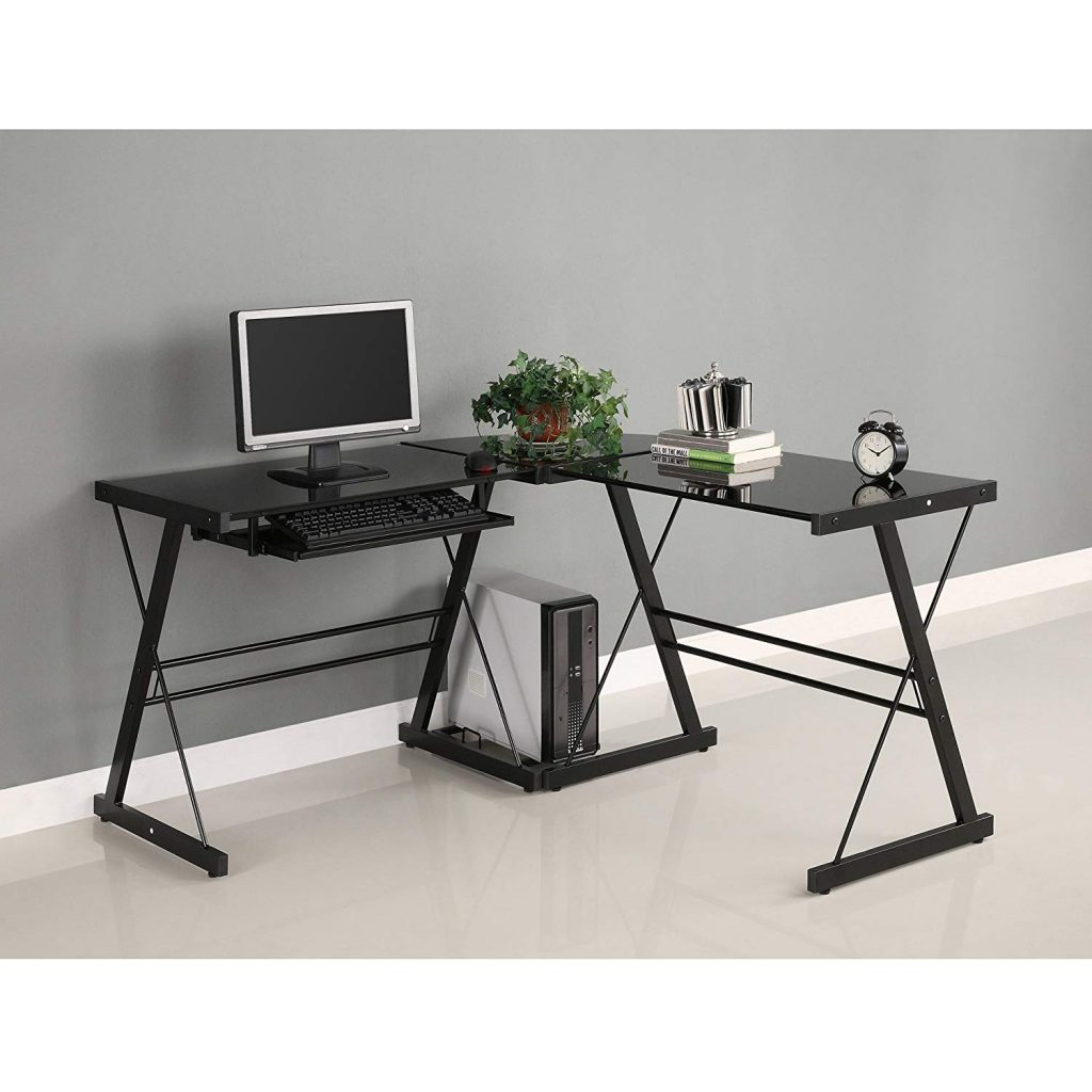 walker edison soreno l shaped black desk