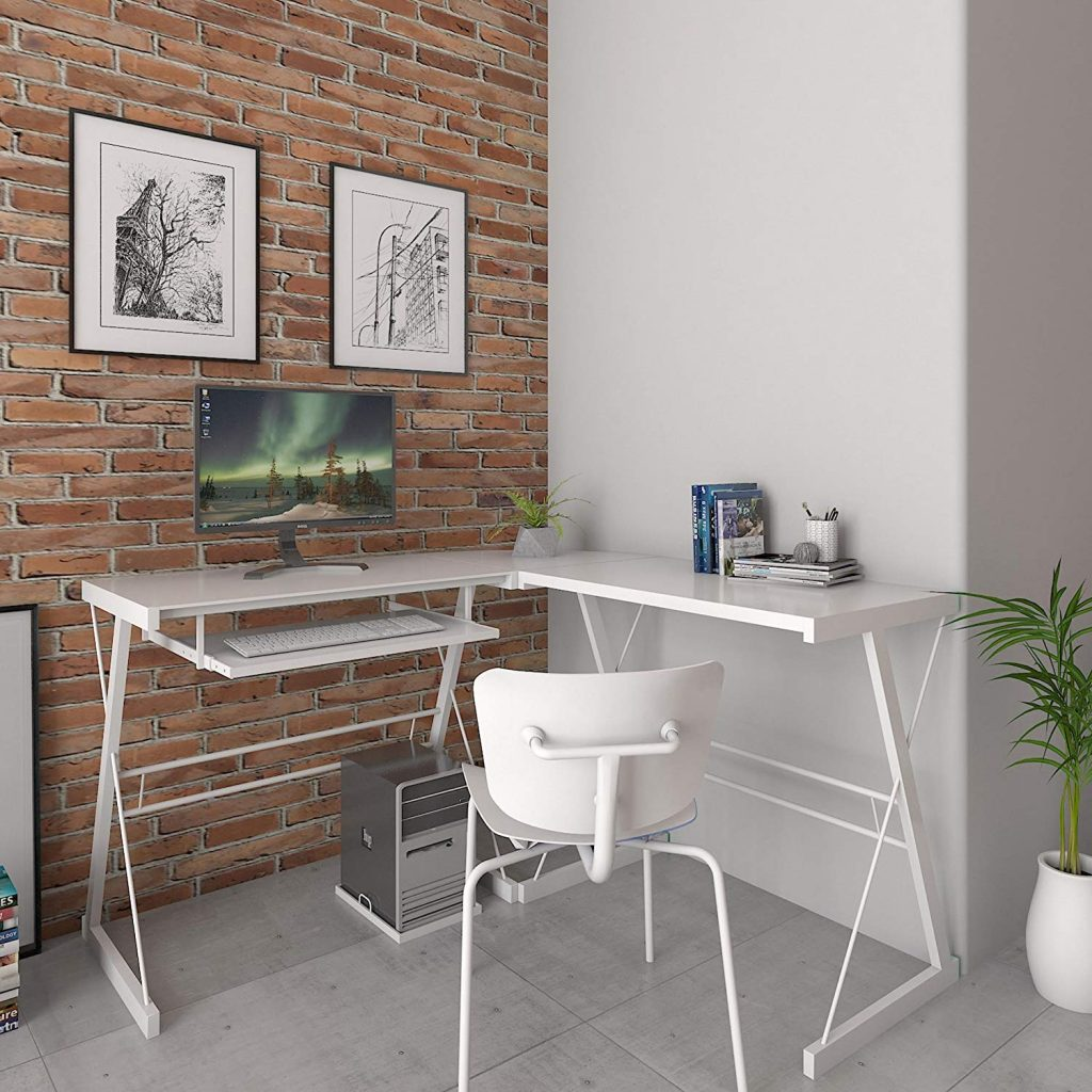 ryan rove l shaped white contemporary desk
