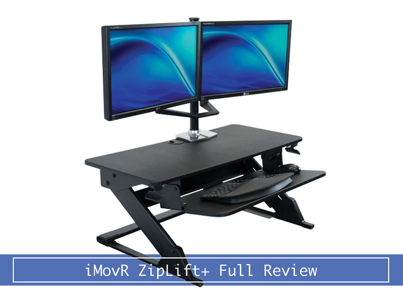 Imovr Ziplift Standing Desk Converter With Anti Fatigue