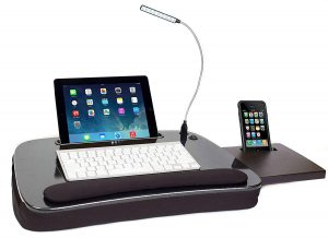 best laptop lap desk with usb light