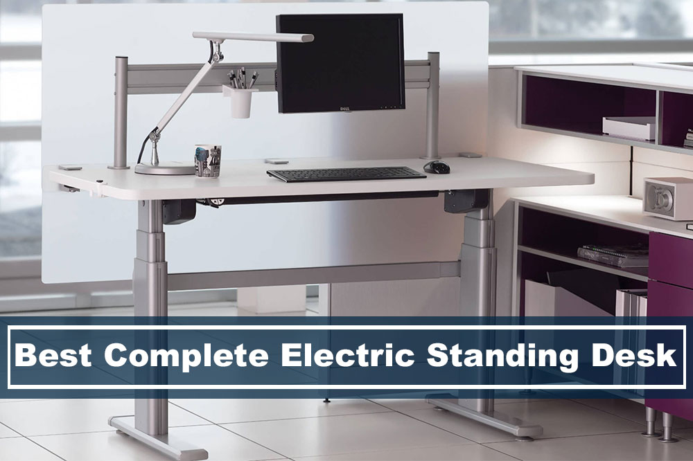 electric stand up desk with monitor arm