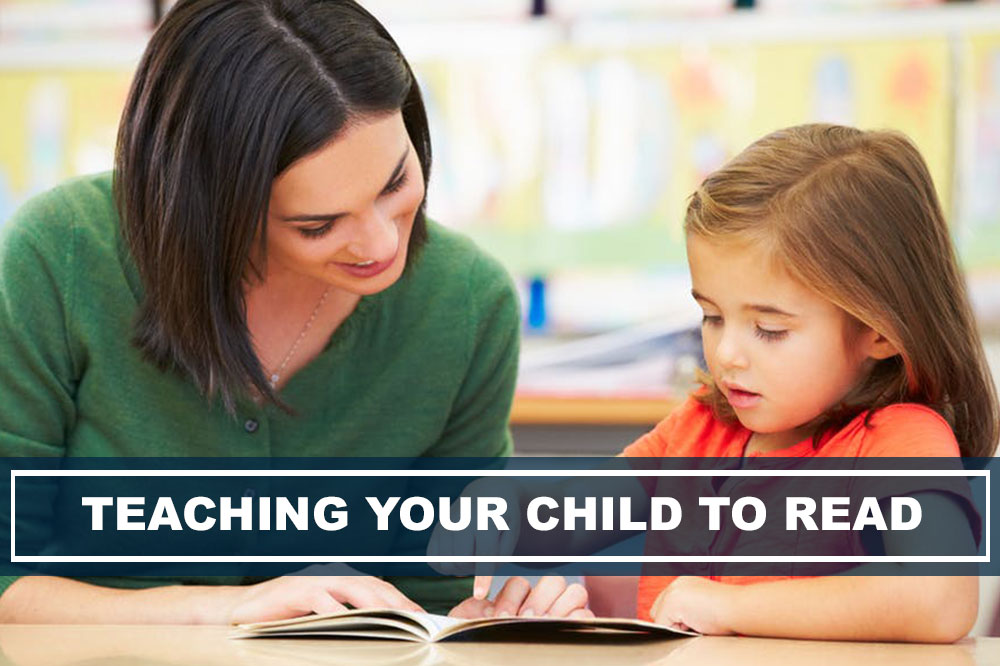 woman teaching child to read for fun