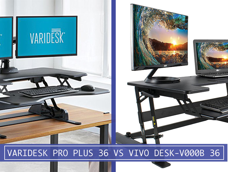 Comparison Varidesk 49900 Pro Plus 36 Quot Vs Vivo Desk V000b