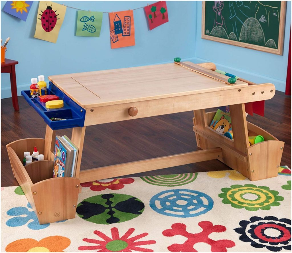 KidKraft arts table wooden bench