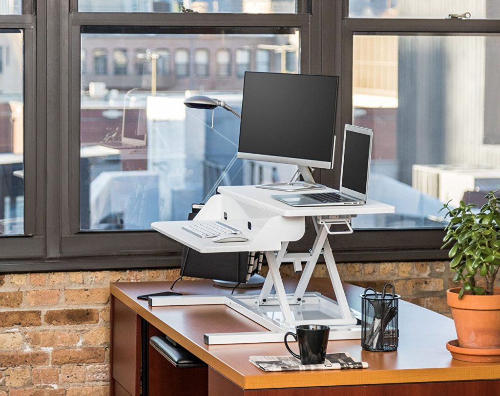 airrise pro standing desk white converter review
