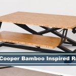 fully cooper bamboo stand up desk converter review
