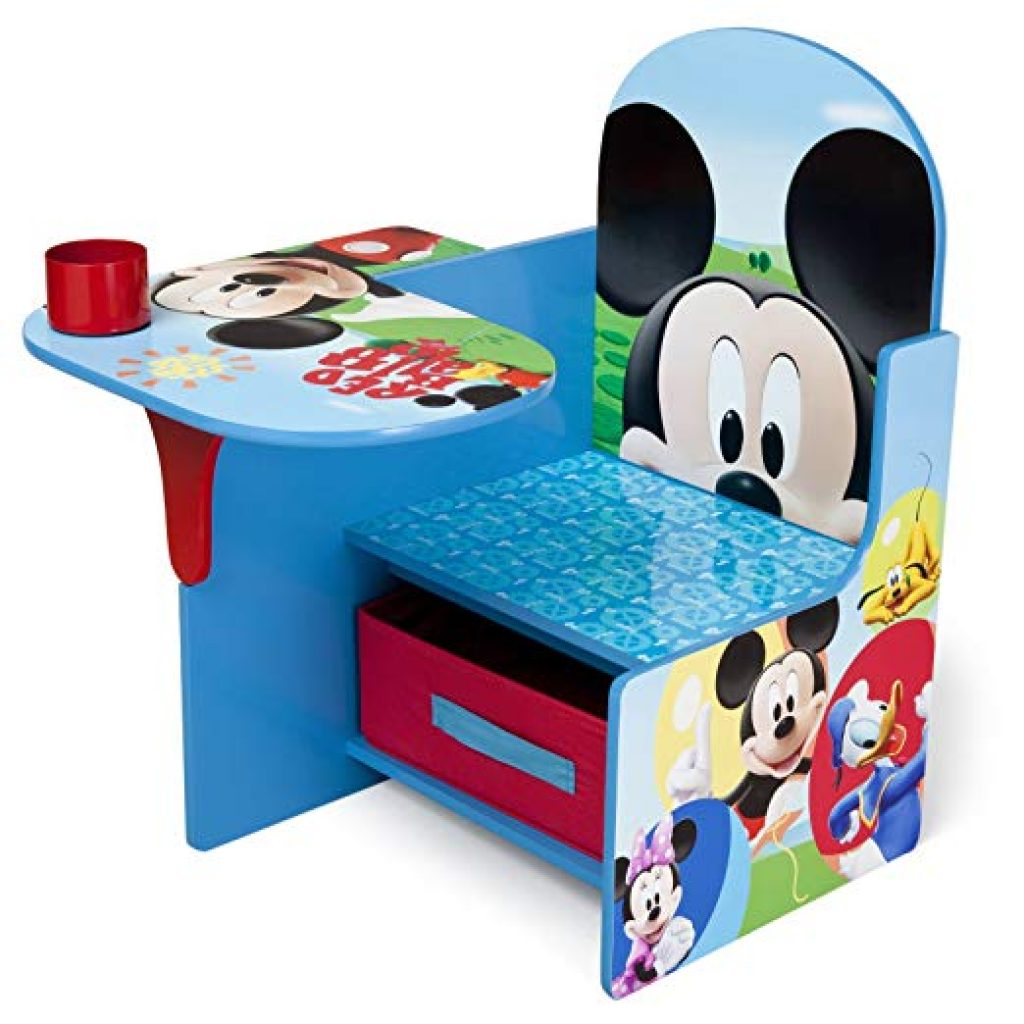 mickey mouse desk with storage bin desk and chair set