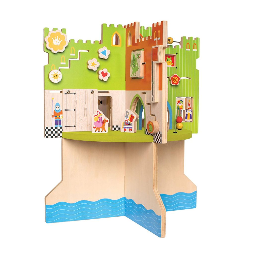 wooden toy storybook castle children's play area