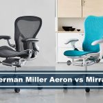 herman miller aeron and herman miller mirra 2 chairs side by side comparison