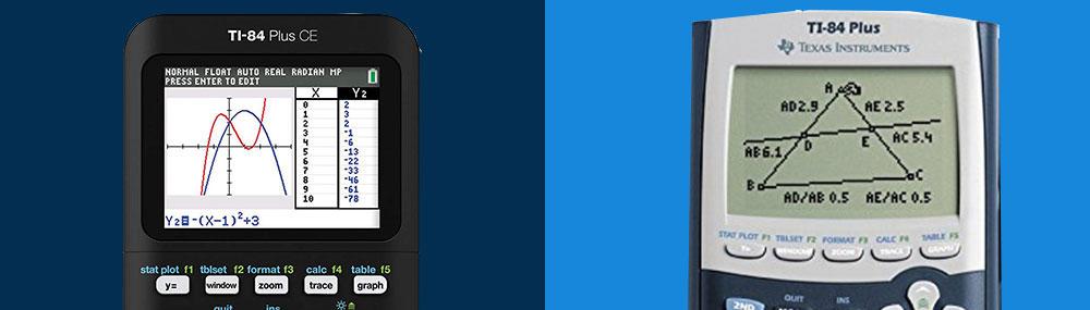 pixel and screen resolution for ti 84 plus ce vs ti 84 plus calculator