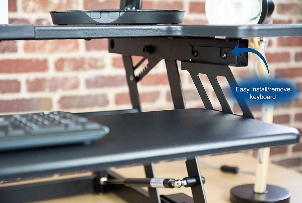 vivo desk removable keyboard tray