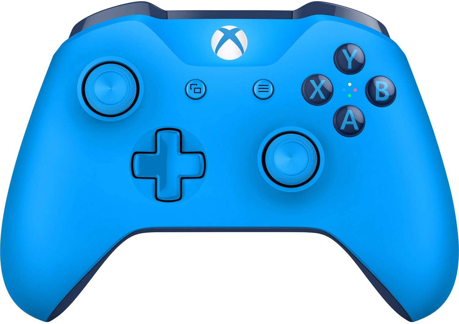 Blue Microsoft Xbox Wireless Controller Front View