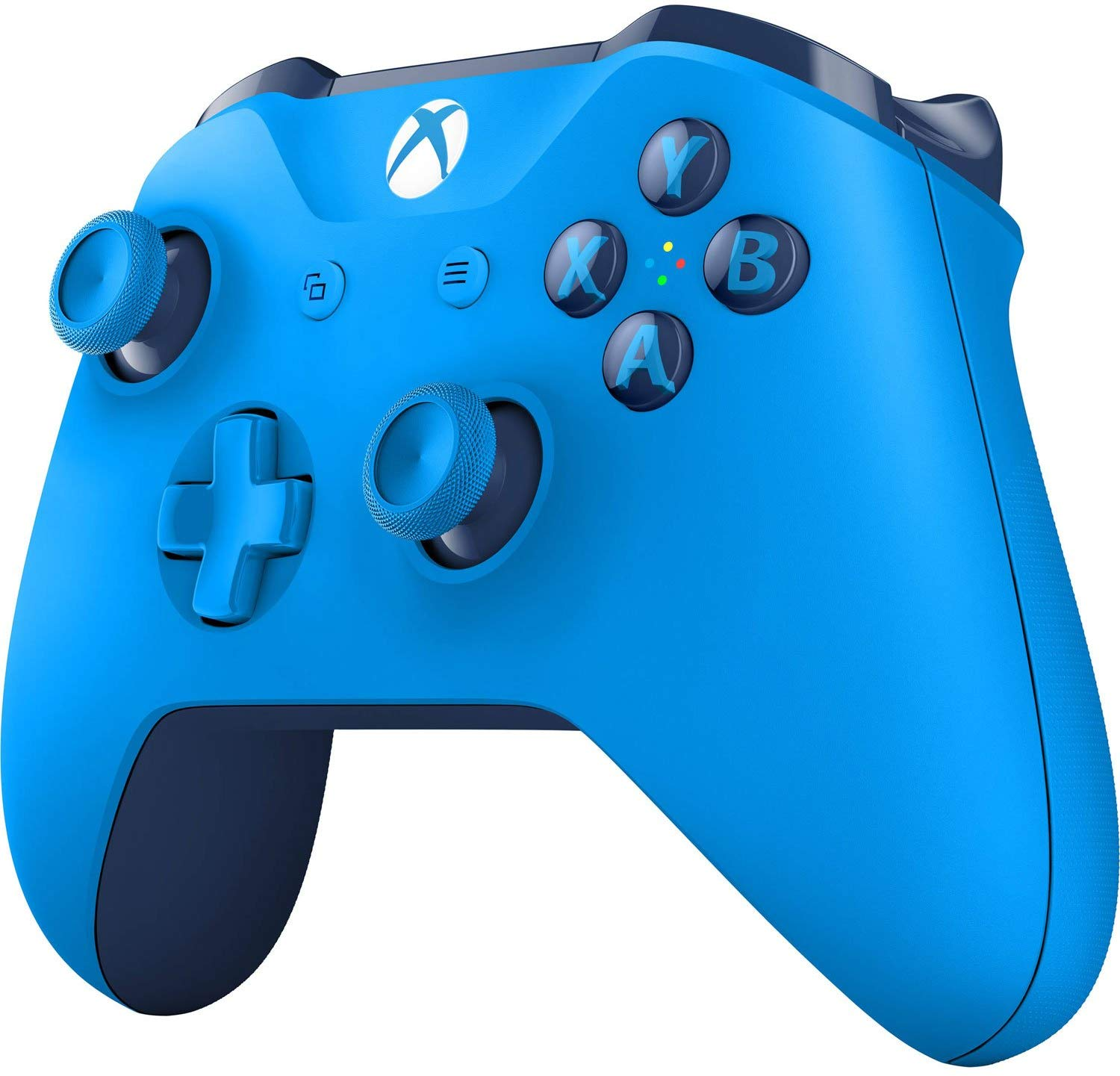 Blue Microsoft Xbox Wireless Controller Side View