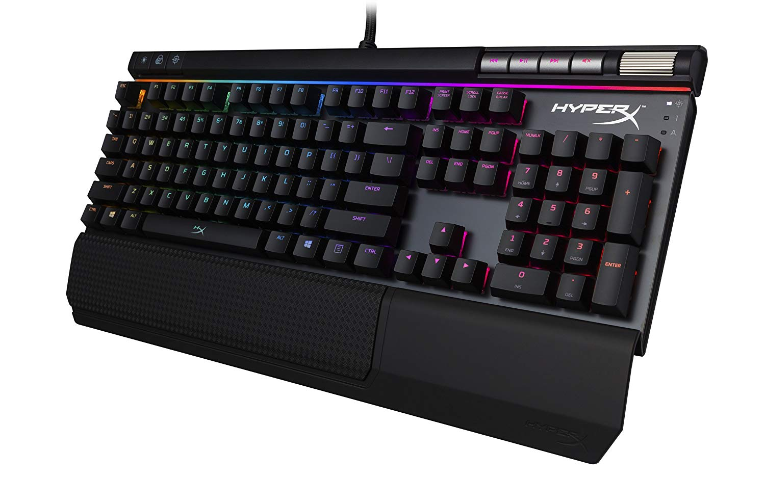 Gaming Keyboard HyperX Alloy Elite RGB Image 3 side view