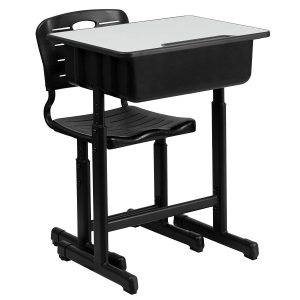 school desk adjustable chair and table