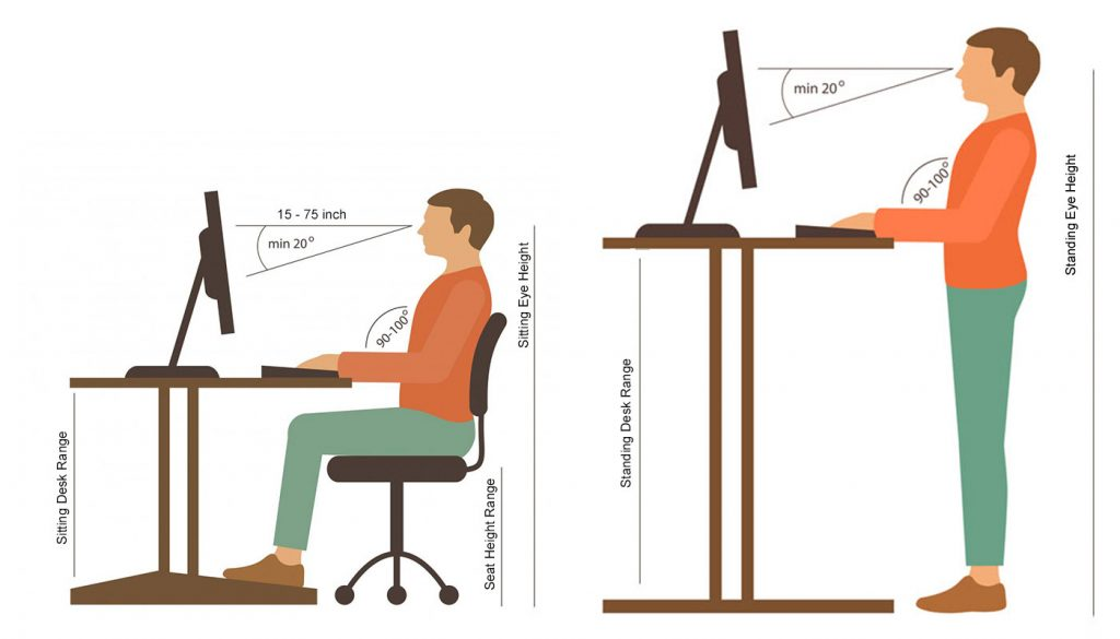 Brilliant What Is The Standard Desk Height For Best Posture And Evergreenethics Interior Chair Design Evergreenethicsorg