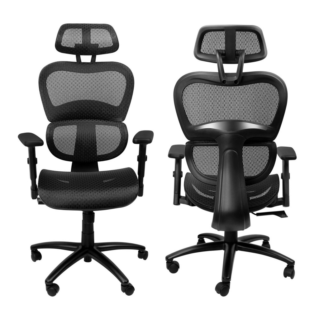 komene ergonomic mesh chair front and back view