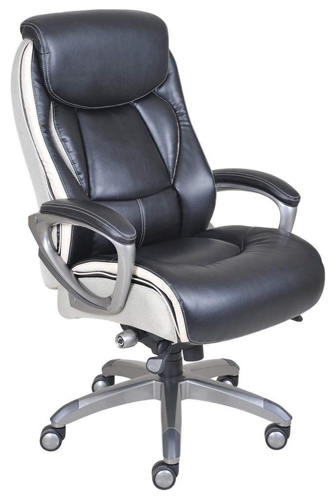serta air executive leather chair