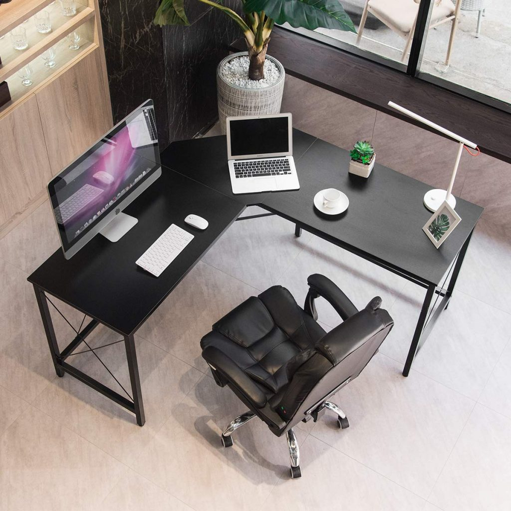 Mr Ironstone L-Shaped Desk for Office and Gaming