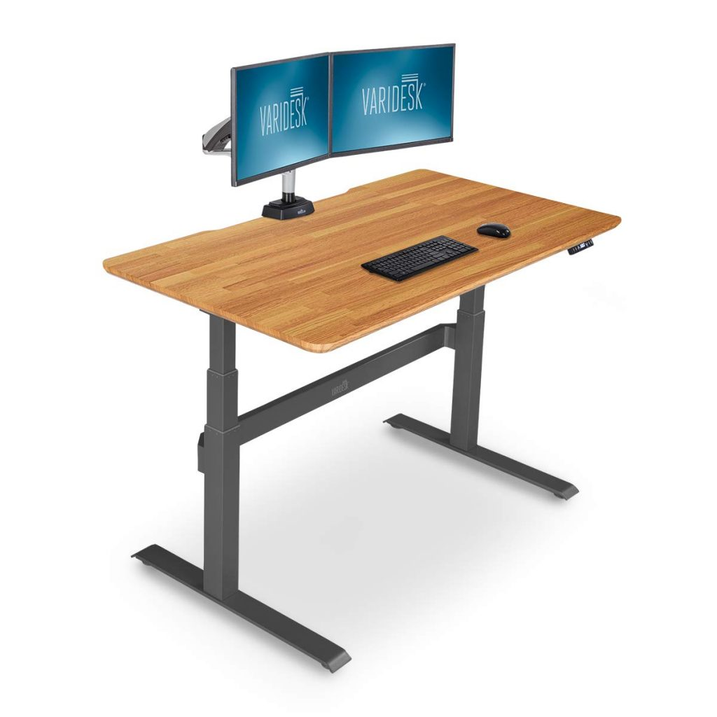 "varidesk prodesk 60"" electric standing desk"