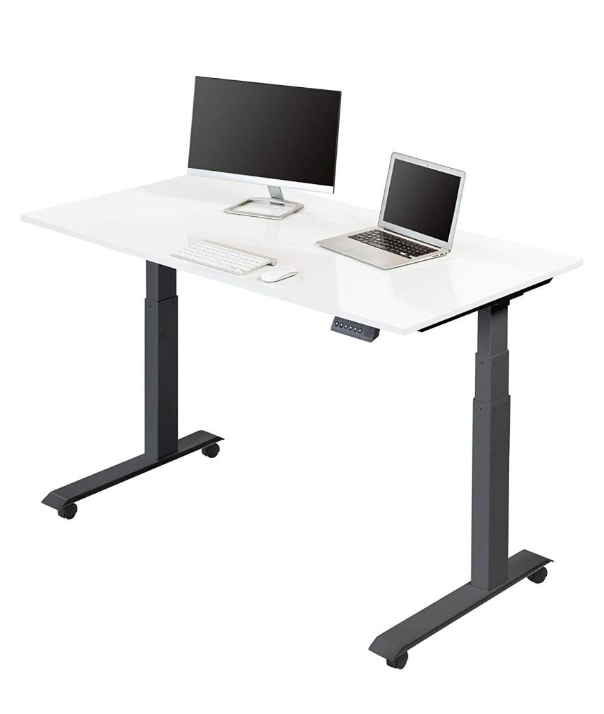 stand up desk store glossy top motorized standing desk