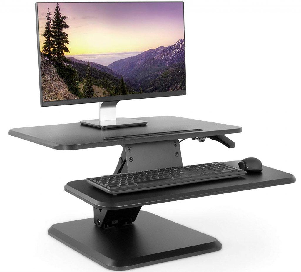"vivo 25"" table top standing desk converter"
