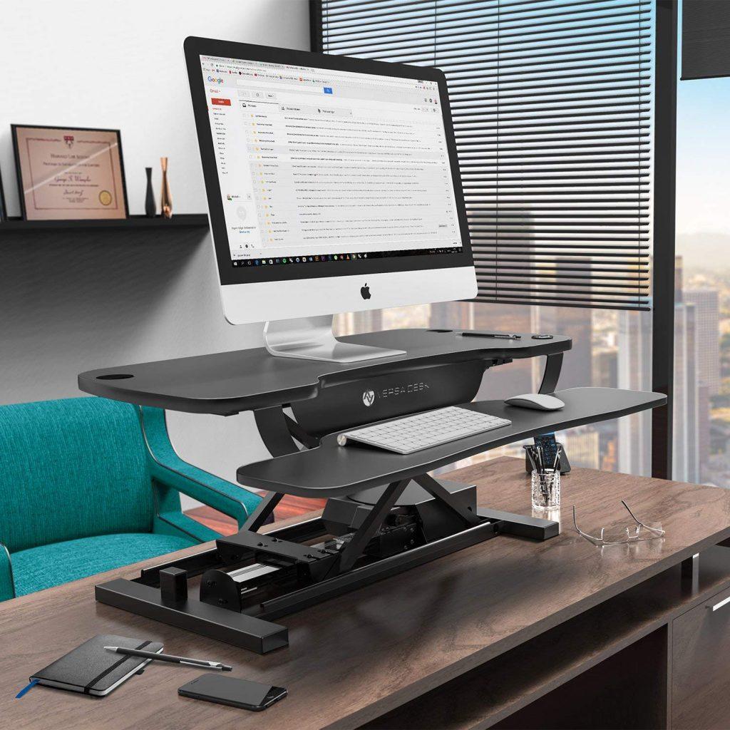 versadesk power pro electric adjustable desk converter
