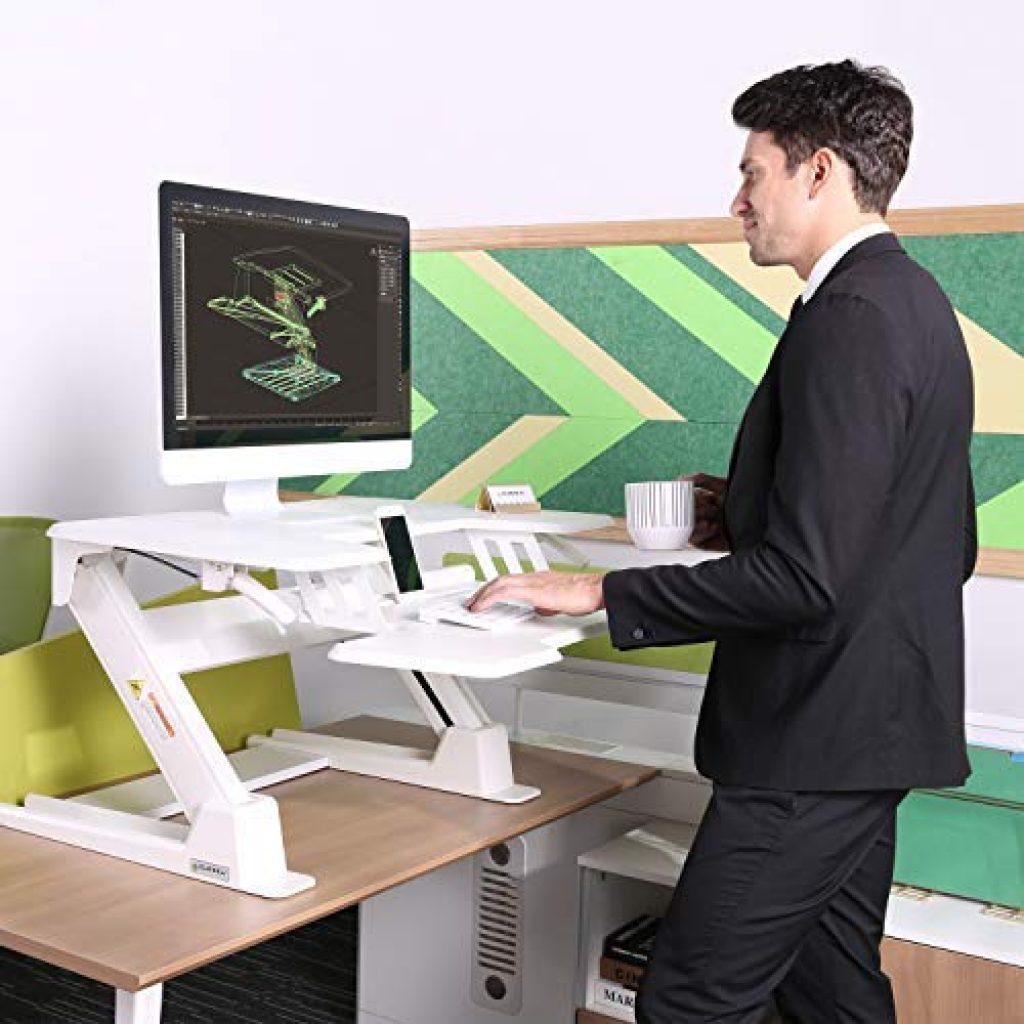 eureka ergonomic gen 2 white standing desk converter