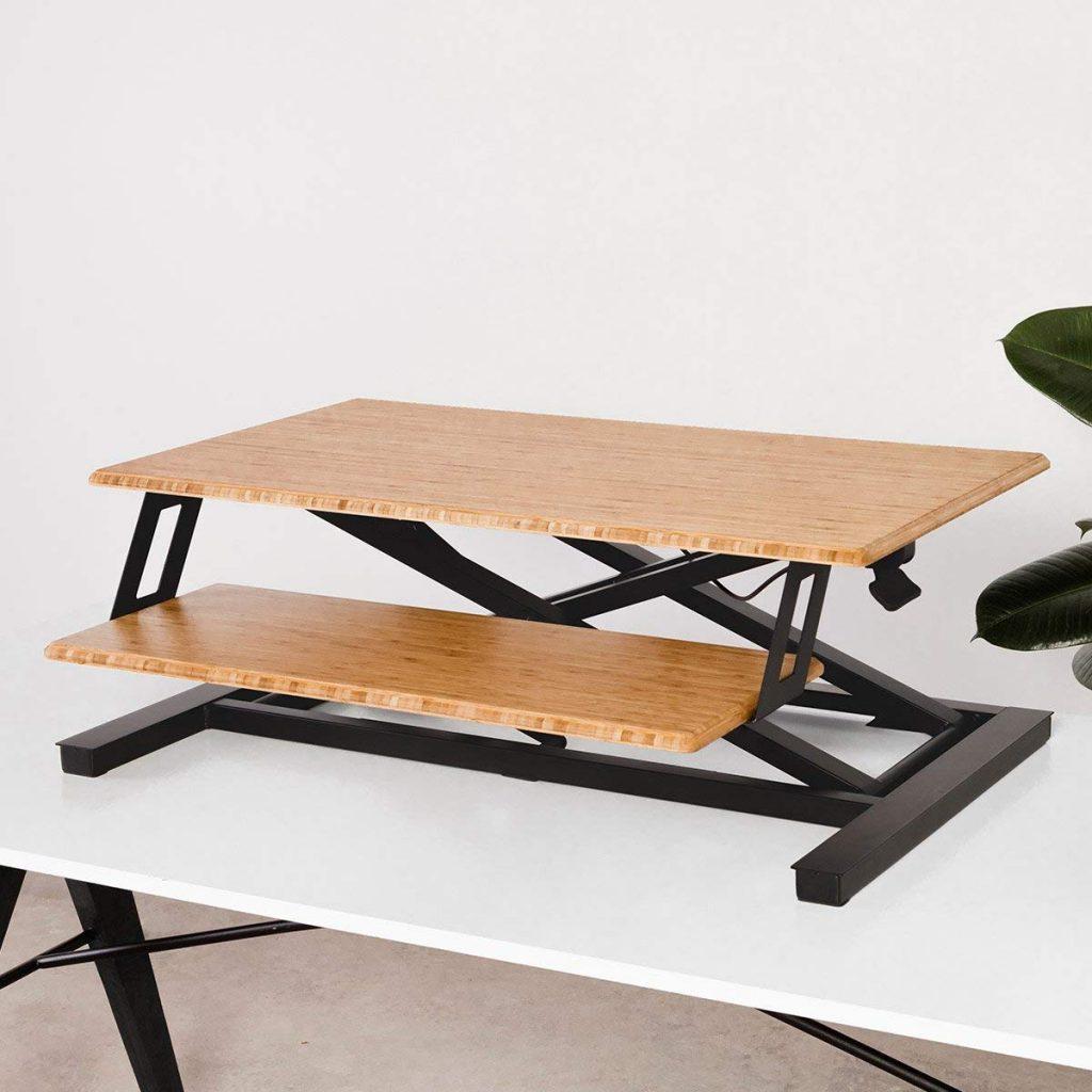 fully cooper bamboo standing desk, a great varidesk alternative