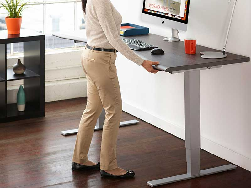 correct standing desk height