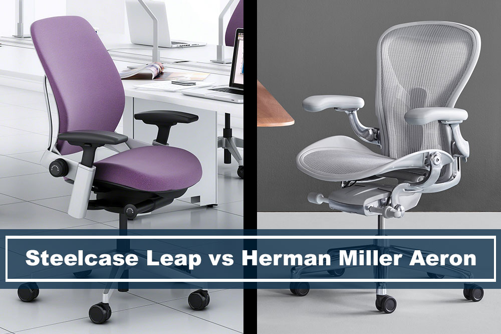 comparing steelcase leap vs herman miller aeron office chair