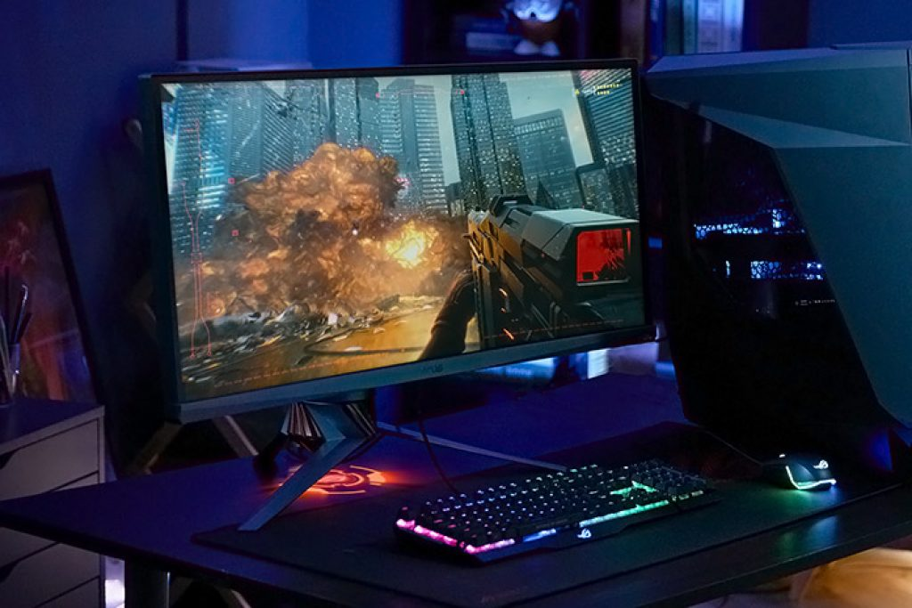 gaming monitor set up