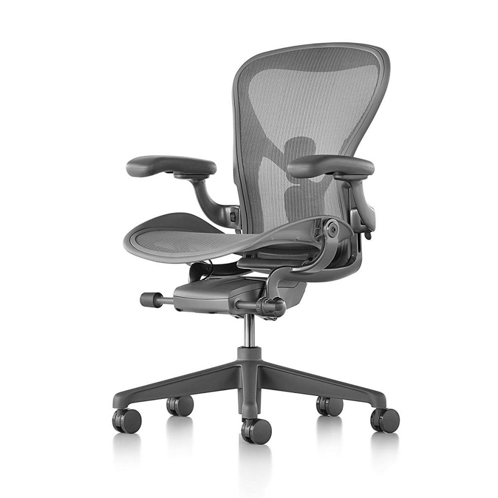 herman miller carbon color aeron chair