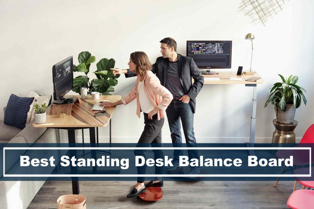Rocker Board 17.5/' Wood Standing Desk for Professional Wooden Balance Board