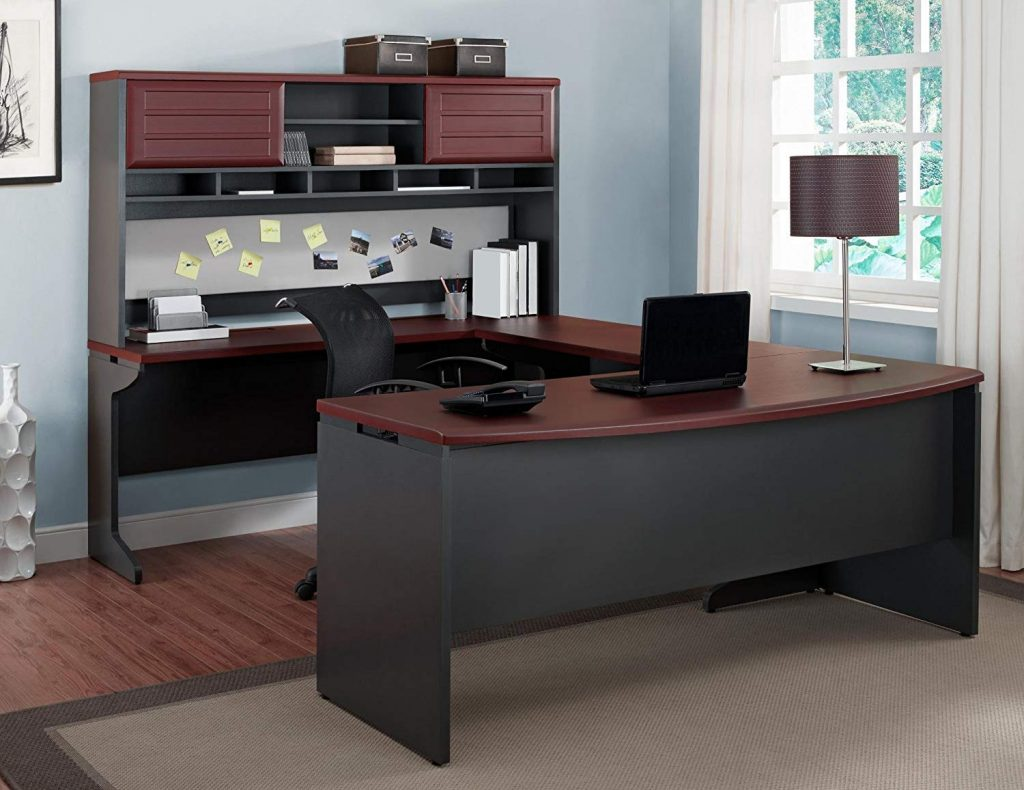 ameriwood u-shaped executive desk