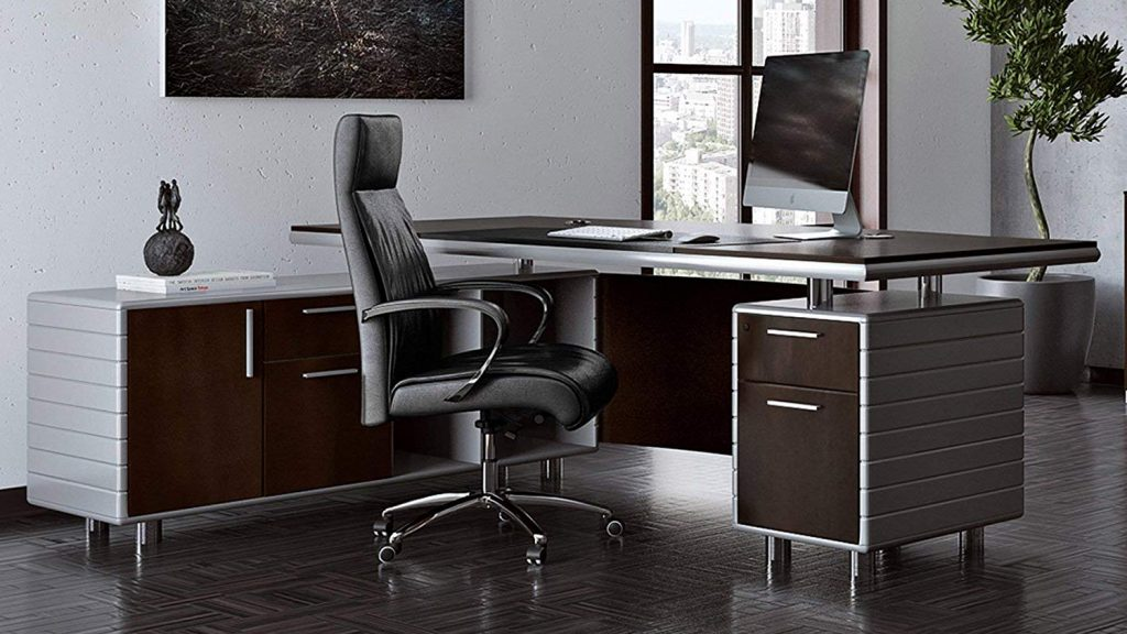 modern l-shaped executive desk