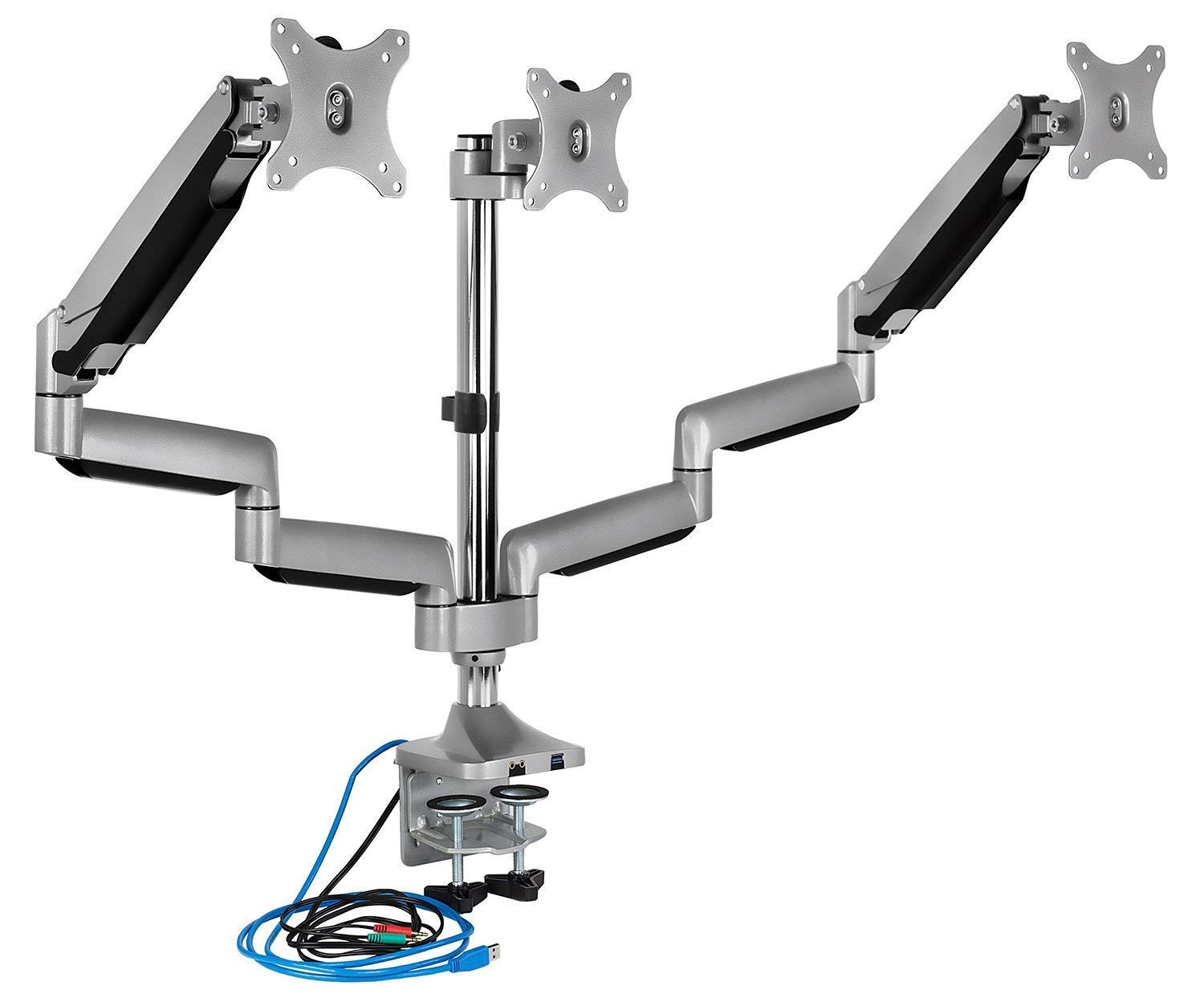 mount it triple monitor arm with usb